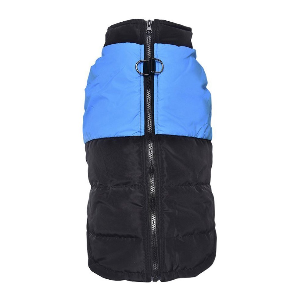 Light bluee M (5-8 lbs) light bluee M (5-8 lbs) LESYPET Cold Weather Vest for Small and Medium Dogs with Safe Guard Zipper Closure Windproof, bluee M