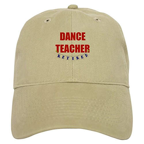 CafePress Retired Dance Teacher Baseball Cap with Adjustable Closure, Unique Printed Baseball Hat Khaki (Best Careers For Former Teachers)