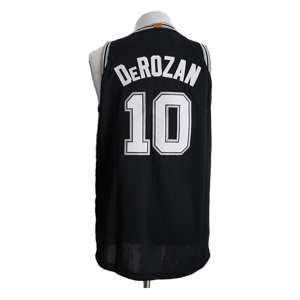 PTLBXZL Camisa Bordada Aficionados Spurs DeRozan Jersey para Hombre