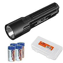 Nitecore EC4GT Die-Cast CREE XP-L HI V3 LED 1000 Lumen Flashlight with 4x CR123A Batteries and LumenTac Organizer