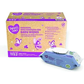 Amazon Com Parents Choice Baby Wipes 12 Packs Of 96