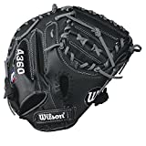 "Best Wilson Sporting Goods Baseball Gloves - Wilson A360 Baseball Catcher's Mitt, 32.5"", Black/Gold, Left Review"