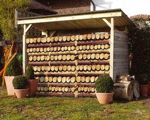 Weka - Abris bois ouvert multifonction 260x130cm: Amazon.fr: Cuisine ...