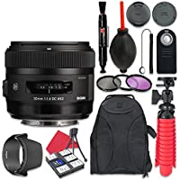 Sigma 30mm f/1.4 DC HSM Art Lens for Nikon + Accessory Bundle