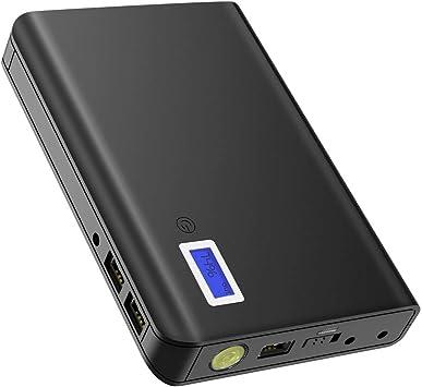 GIARIDE Batería Externa Portátil Carga 24000mAh 85W 220V Power Bank 3 Puertos USB 1 AC Salida argador Paquete LCD y Linterna para Macbook, Laptop, iPhone, Galaxy, Smartphone, Camera: Amazon.es: Electrónica