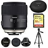 Tamron 45mm SP F/1.8 Di VC Vibration Compensation AutoFocus Ultra Silent Drive (model F013) For Canon With BONUS Tamron Tap-In Console, Sandisk Extreme 32GB SD Card and More