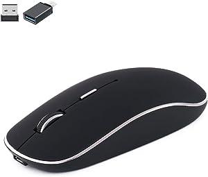 Wireless Mouse for MacBook pro/MacBook Air/MacBook Mac/Windows Laptop/Notebook/pc,Wireless Mouse for Laptop MacBook Pro/Air (USB2.4G Wireless Mouse/Black)