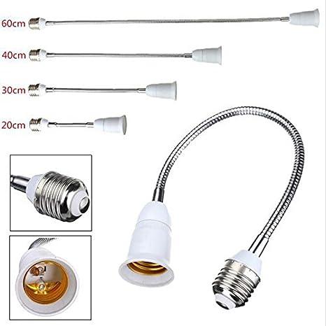 E27 Light Bulb Lamp Holder Screw Socket Pro Flexible Extension Adapter