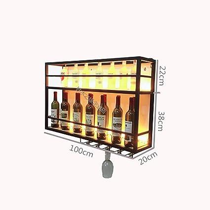 FPigSHS Armarios para Vino Botelleros Estante para Vino en Rack Soporte para exhibición en Pared Estante