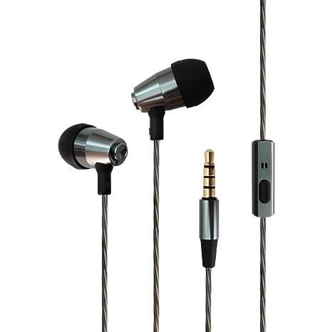 d887828b07c Tennmak guita auriculares Premium con cable de metal in-Ear auriculares con  micrófono y mando