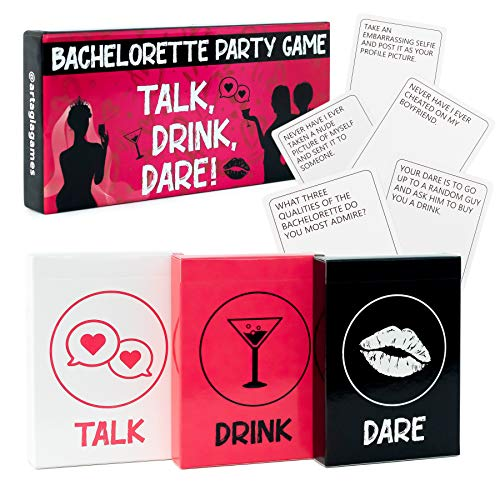 Bachelorette Party Games | 3-in-1 Game to Celebrate the Bride to Be | Fun Drinking Games and Dares for Girls