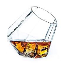 Dragon Glassware Diamond Whiskey Glasses - Old Fashioned Tumblers for Whisky, Wine, Bourbon, Scotch, Brandy - 10 oz / 300 ml, Set of 2 (Gift Boxed)