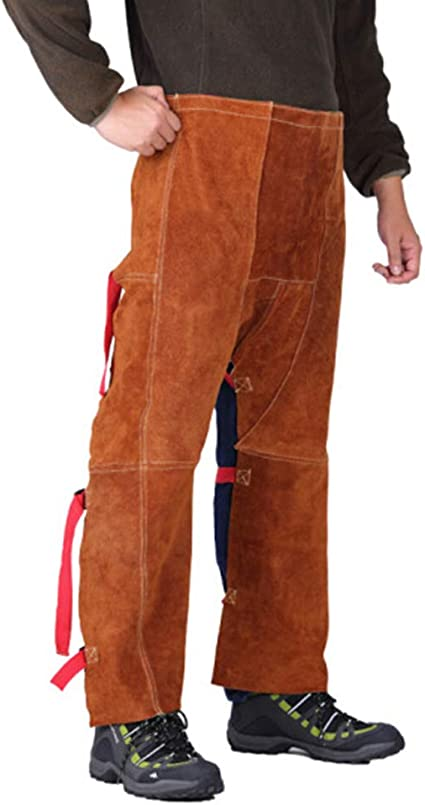 cow split leather chaps welder trousers clothing Flame Retardant welding pants