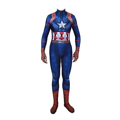 GanSouy Disfraz de disfraces básico oficial de Capitán América ...