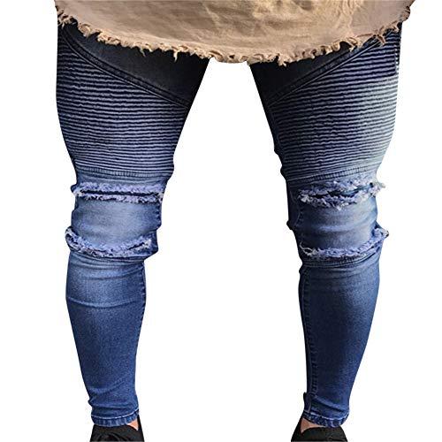 Alla Uomo Denim Distrutto 1860 Cerniera Pants Jeans Strappati Skinny Moda Pantaloni Fit Cuciture Con HqwY6Hg