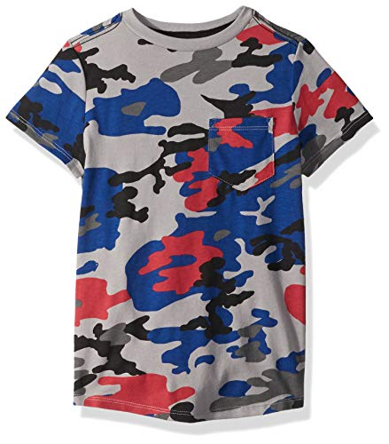 - Crazy 8 Boys' Big Short Sleeve Basic Knit Pocket Tee, Blue Urban camo, L