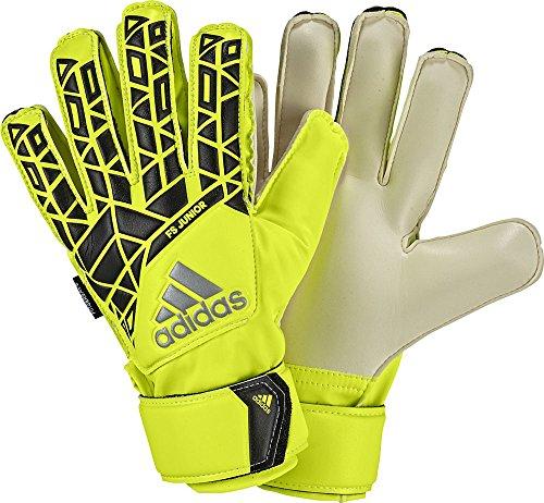 adidas Kinder Ace Fingersave Junior Torwarthandschuhe, Solar Yellow/Black/Onix, 5