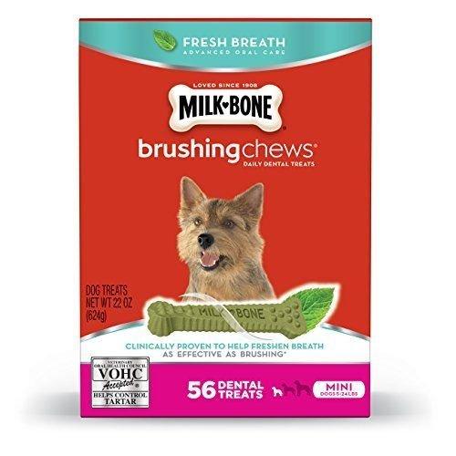 Milk-bone Brushing Chews Fresh Breath Dog Treats , 22 Oz , M