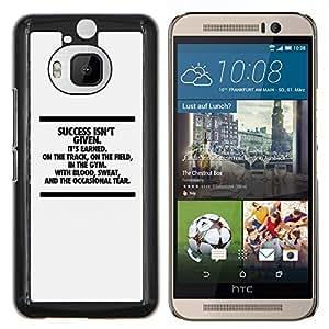 YiPhone /// Prima de resorte delgada de la cubierta del caso de Shell Armor - El éxito inspirador mensaje de texto minimalista - HTC One M9Plus M9+ M9 Plus