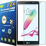 2x LG G Stylo Stylus G4 4G LTE LS770 H631 w/5.7 LCD Premium Clear LCD Screen Protector Guard Kit (2 pieces by GUARMOR) by GUARMOR