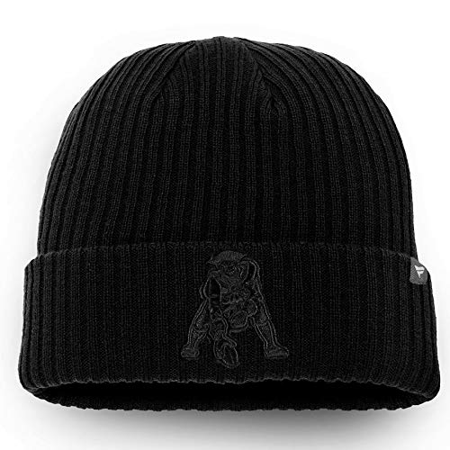 All Sports New England Patriots NFL Pro Line Retro Logo Scull Cuffed Knit Hat - ()
