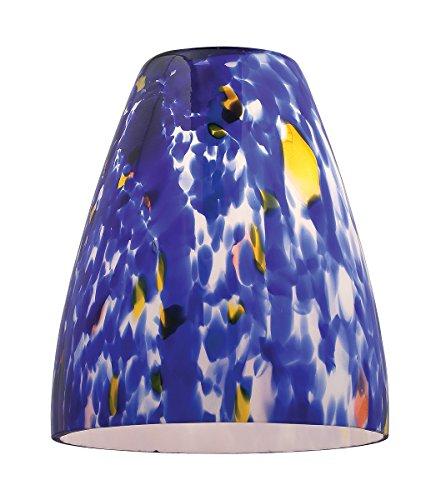 Fire - Pendant Glass Shade - Blue Glass Finish