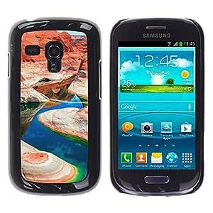 YiPhone /// Prima de resorte delgada de la cubierta del caso de Shell Armor - Gran Cañón EE.UU. - Samsung Galaxy S3 MINI 8190