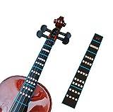 FineFun Violin Finger Guide /Fingerboard Sticker Fret guide Label Finger Chart For Size 4/4,3/4 ,2/1,4/1,8/1,10/1 (4/4)