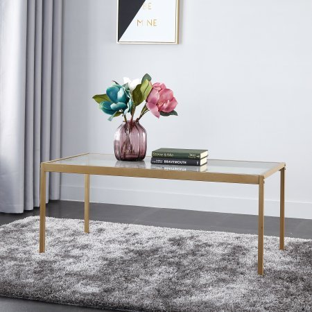 glass and gold coffee table - 8