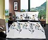 Hanna 4pc Full / Queen Comforter Set 100 % Cotton 300 Thread Count by Royal Hotel