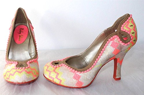Ruby Shoo Miley Court Shoes SZ 3-8 Coral Multi/Ice Blue Purple Round Toe Multi lpeYBi