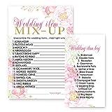 Floral Bridal Shower Word Scramble Game Card Set of 25