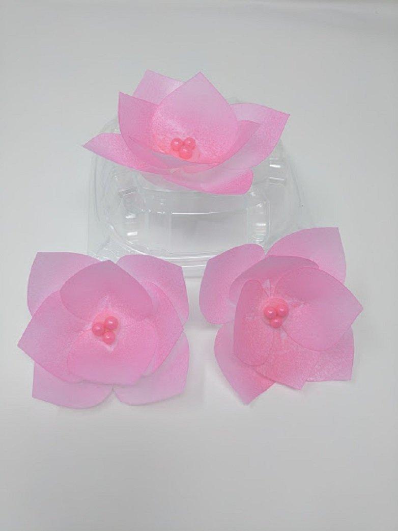 Amazon 3d Edible Rice Paper Flowers For Cake Decoration 3d