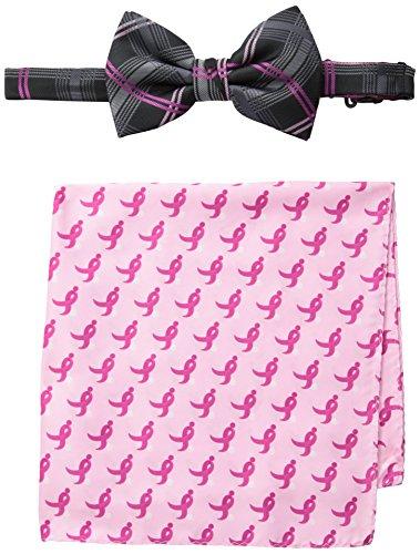 Susan G. Komen Men's Plaid Bow Tie, Black II One Size