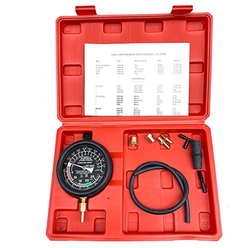 Pump & Vacuum Tester,Fuel Pump & Vacuum Tester Gauge Leak Carburetor Pressure Diagnostics w/Case New (Free, Black)