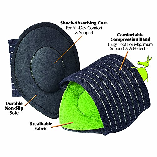 Ortho Stand Mat (Extra Thick Cushioned Compression Arch Support with More Padded Comfort for Flat and Achy Feet (Black))