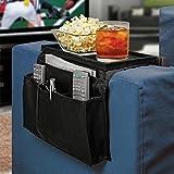 6 Pockets Sofa Couch Armrest Hanging Organizer TV Remote Control Holder,Black