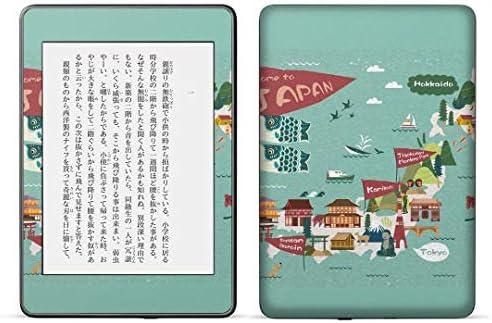igsticker kindle paperwhite 第4世代 専用スキンシール キンドル ペーパーホワイト タブレット 電子書籍 裏表2枚セット カバー 保護 フィルム ステッカー 016038 日本地図 旅 和