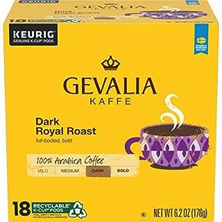 Gevalia Dark Royal Roast K-Cup Coffee Pods (72 Pods, 4 Packs of 18)