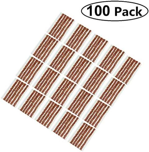AIYUE Pack of 100 Tire Repair Strings Tire Repair Strings Rubber StripsTire Repair Plugs(100mm x 6mm) for Cars