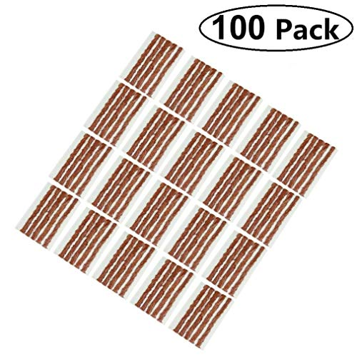 AIYUE Pack of 100 Tire Repair Strings, Tire Repair Strings Rubber Strips,Tire Repair Plugs(100mm x 6mm) for Cars