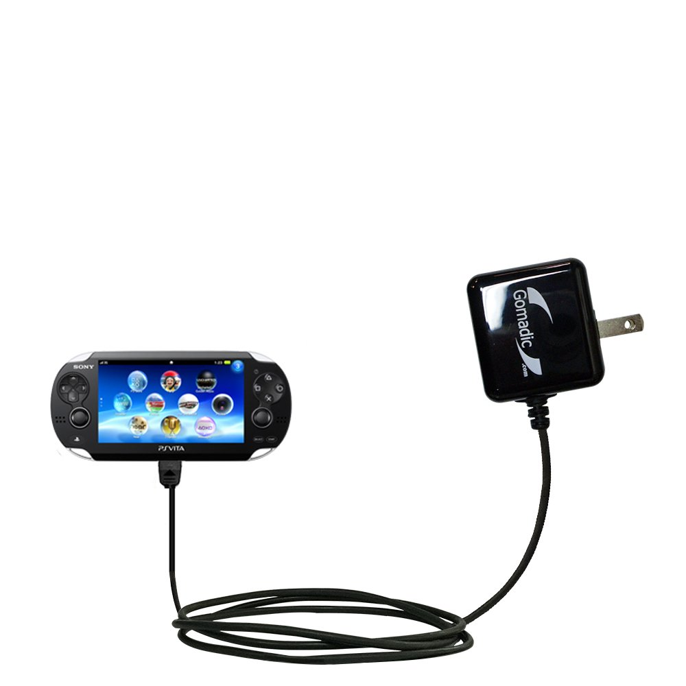 Gomadic High Output Home Wall AC Charger designed for the Sony Playstation Vita with Power Sleep technology - Intelligently designed with Gomadic TipExchange
