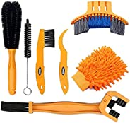 7pcs Bicycle Cleaning Tools Set, Bicycle Clean Brush Kit Suitable for Mountain, Road, City, Hybrid, BMX and Fo