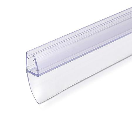 Navaris Schwallschutz Duschdichtung Duschkabine 180° - für 6mm dicke Glas Duschtür - Dichtung Glastür Dusche - Ersatzdichtung