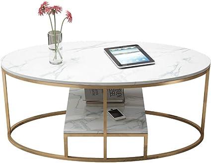 Muzi Coffee Table Nordic Small Apartment Creative Living Room Coffee Table Modern Marble Coffee Table European Iron House Bedroom Living Room Coffee Table Amazon De Kuche Haushalt