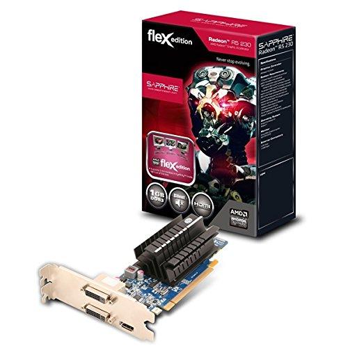 Sapphire 11233-00-20G GRA PCX Sapphire R5 230 FLEX passiv AMD Grafikkarte (PCI-e, 1GB GDDR3 Speicher, HDMI, DVI, 1 GPU)