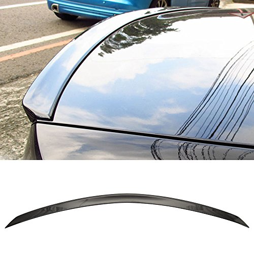 Pre-painted Trunk Spoiler Fits 2008-2014 Benz C-Class W204 | AMG Style ABS Painted #197 Obsidian Black Rear Tail Lip Deck Boot Wing Other Color Available By IKON MOTORSPORTS | 2009 2010 2011 2012 2013