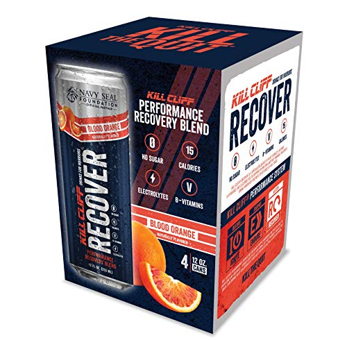 Kill Cliff Recovery Drink, Blood Orange, 12 Oz Cans, 4 Count