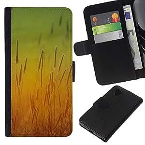 Stuss Case / Funda Carcasa PU de Cuero - Sun amarillo campo centeno cosecha cubo - LG Nexus 5 D820 D821