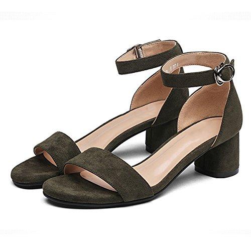Élégant Talons Hauts Chaussures Mode Confortable green Banquet Femmes pour DKFJKI Simple YxqSgwTRg